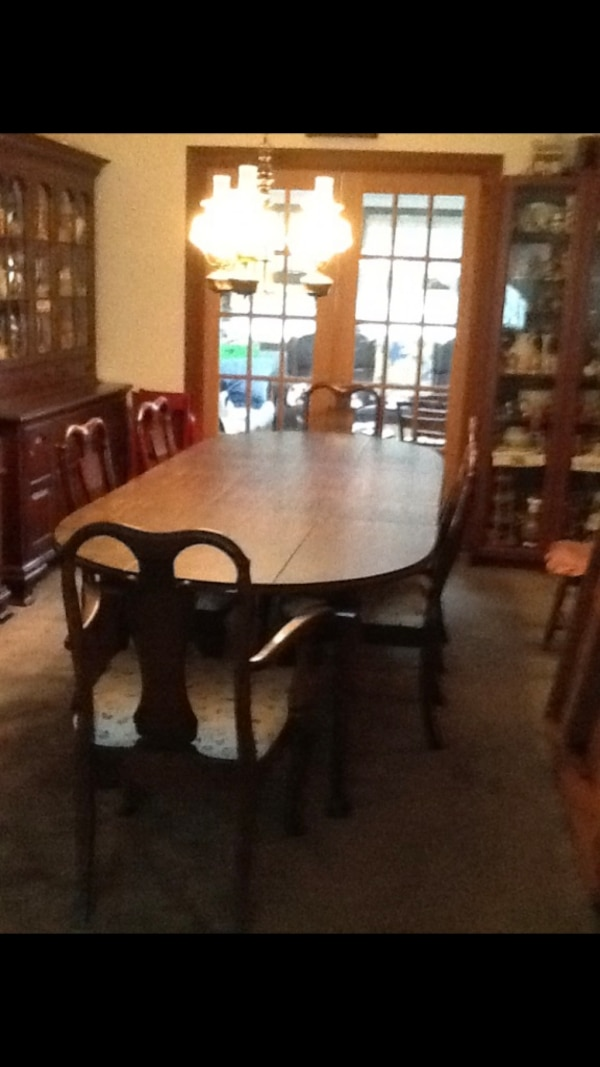 Harden Cherry Solid Wood Dining Room Table 6 Chairs