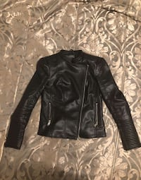 black vintage leather jacket Toronto, M6A