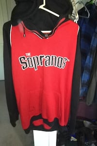 Black and red the sopranos pullover hoodie