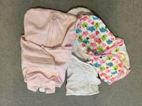 Baby swaddles - Halo and Summer Infant. Pink is NB sizzle, Polka Dot is Lg (14-20lbs) and Elephants is Sm/Md (7-14lbs) Fairfax