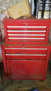 red and white tool cabinet Hudson, 34667