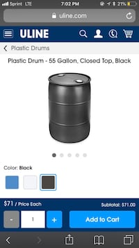 Black 55 gallon plastic drums Loudon, 37774