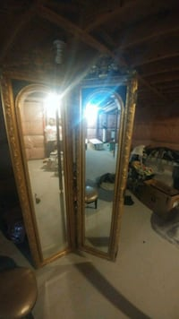 beautiful wood hand carved Room divider mirror