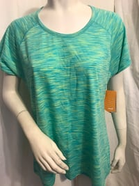 Capri Space Green Dyed crew neck work out/active wear Avía brand T-shirt, brand new, w/tags, never worn, X-large/16–18 $5 Garden Grove, 92844
