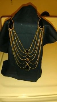 black and gold  evening necklace Edmond, 73034