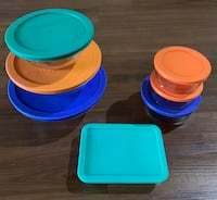 7 piece Pyrex bowl set with lids Fairfax, 22030