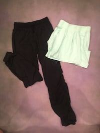 Black Ivivva pants youth size 14 and turquoise Ivivva skirt youth size 12   Calgary, T2Y 0A3