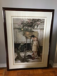 White and brown house painting with brown wooden frame Brampton, L6W 2R8