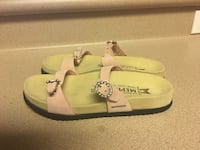 EUC Mephisto leather sandals black and Pink, air relax Women's Size 35