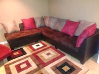 red and black sectional couch Laurel, 20707