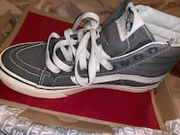 Sk8 High Vans ( Gray and White) Lancaster, 93536