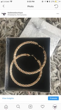 Gold hoops  Philadelphia, 19119