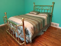 Polished Brass (Double) Bed set