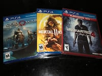 PS4 Games Triple Pack (Brand New) Ashburn, 20148