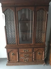 JUST REDUCED! Beautiful framed glass display cabinet Fayetteville, 28311