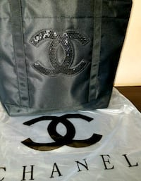 New! CHANEL Sequined CC Tote Bag