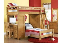 brown wooden bunk bed with storage Covington, 30014