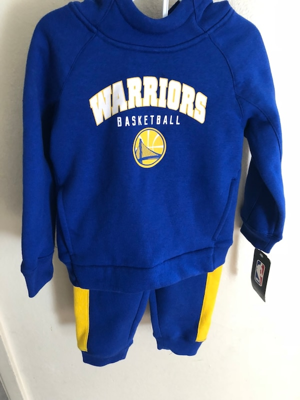 Used 3T Kids Warriors sweat suit for sale in Oakland - letgo d4a481a34