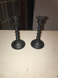 two black metal candle holders Derwood, 20855