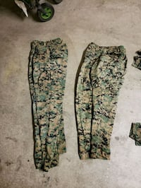 two black and green floral pants Oceanside, 92058