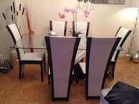 Rectangular brown wooden table with six chairs dining set Toronto, M4S