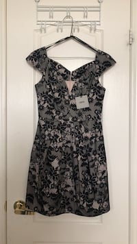 Women's black and gray floral sleeveless dress Markham