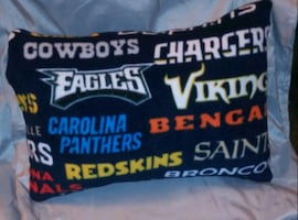 Custom NFL TEAM PILLOWS $8ea