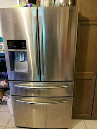 stainless steel french door refrigerator 552 km