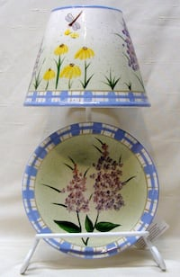 Home Interiors Wildflower Candle Lamp with Plate