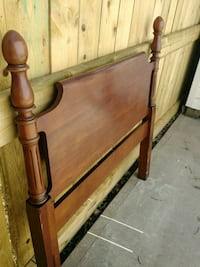 Solid Cherry french provincial twin headboard Sherwood Park, T8H 1X9