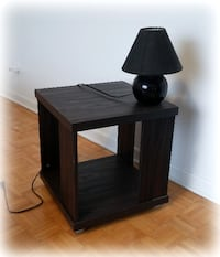 Side Table + Lamp