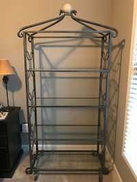 Metal shelving unit with glass shelves Gaithersburg, 20878