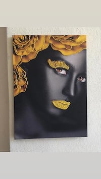 Printed canvas photo