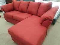New Ashley compact red sectional College Park