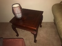 Solid side table and matching coffee table  Houston, 77057
