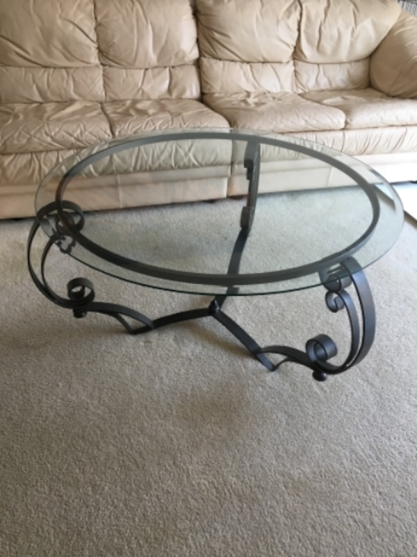 "Glass Coffee Table 38"" 0"
