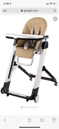 Peg Perego Leather seat high chair