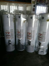 four white and gray water heaters Los Angeles, 90043