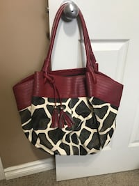 brown and white leather tote bag Lethbridge, T1K