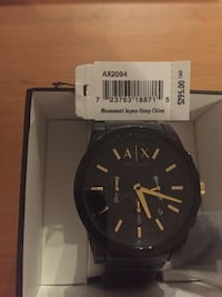 Armani Exchange Watch Black and Gold