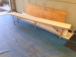 Banquet table benches