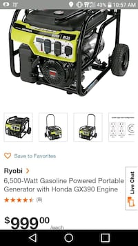 black and green Ryobi pressure washer screenshot Washington, 20009