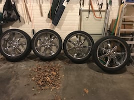 Chrome 7 spokes auto rims