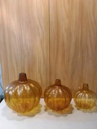 Decor Glass Pumpkins