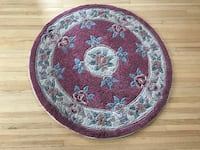 Thick floral area rug Calgary