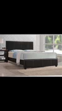black wooden bed frame with white mattress Hagerstown, 21740