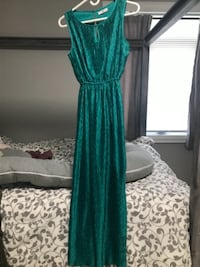 Turquoise Long formal dress