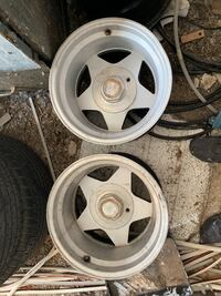 All four rims and caps r15 by 12 Los Lunas, 87031