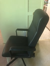 Leather desk chair, black, very good condition  Rockville, 20852