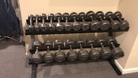 Dumbell set   & Rack. 5-50lbs Reston, 20194